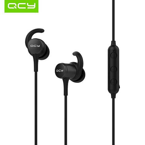 Беспроводные наушники с микрофоном (гарнитура) QCY M1S IPX5 Black, фото 2