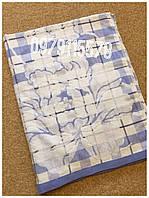 Простынь махровая льон-махра 100% хлопок 150х200 Голубая