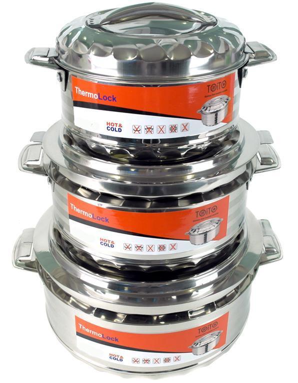 Набор 3 термо-кастрюли TOiTO Hot&Cold 2.5л, 3.5л и 5л