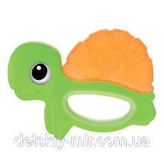 Оригинал. Погремушка Прорезыватель для зубок Черепаха Chicco 72369