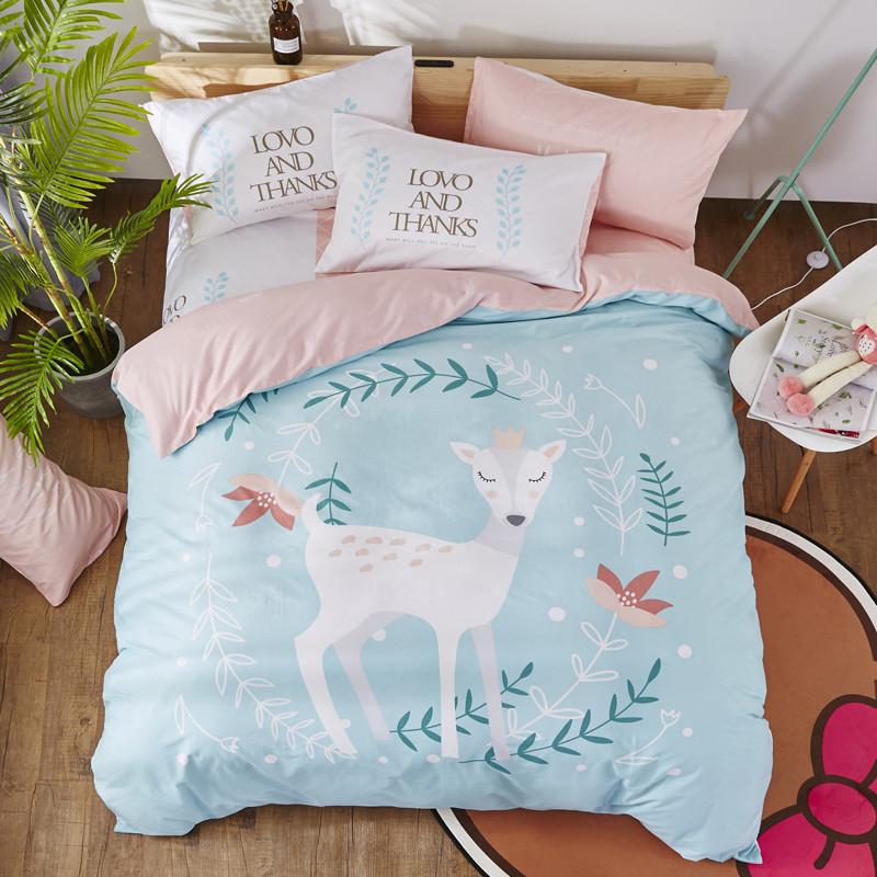 Комплект постельного белья Принцесса олененок (двуспальный-евро) Berni Home