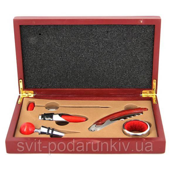 Винный набор в деревянной подарочной коробке 522SB