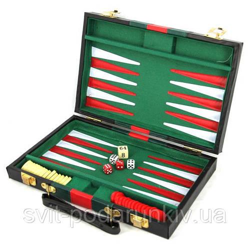 Нарды подарочные в чемодане из кожи прессованной S240400