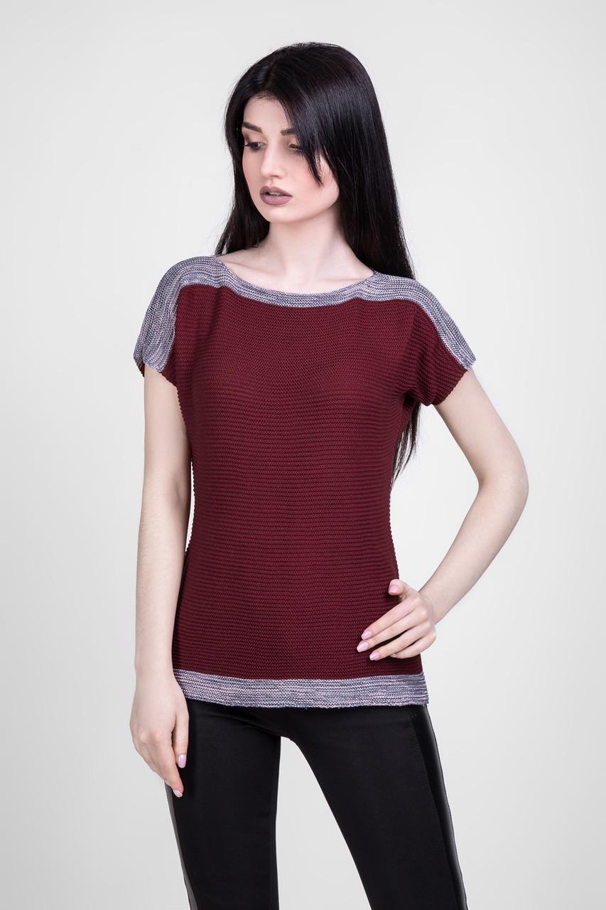 Вязанная футболка-топ 1423 Bellise