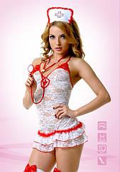 Эротический костюм TouchMeBR Медсестры кружевной M L, КОД: 277893