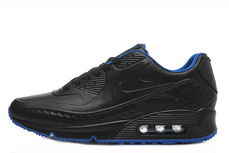 f26a87adb1f6 Мужские кроссовки Nike Air Max 90 First Leather Black Blue размер 41  (Ua Drop 111500-41