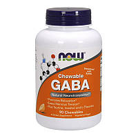 NOW ГАБА — Гамма аминомасляная кислота GABA Chewable 90 chewables
