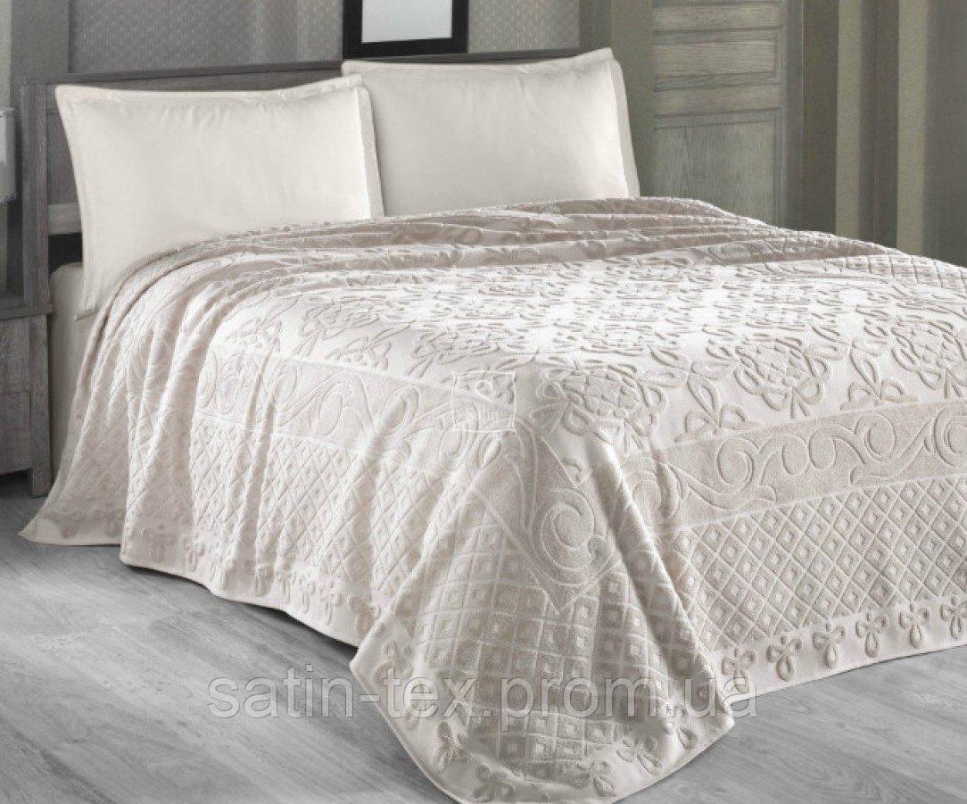 48f1412e2ebf2 Постельное белье Arya с махровым покрывалом. Estafan Бежевого цвета-1 ,5-спальный