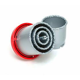 Набор корончатых сверл для плитки 5 ед., 33-73 мм, вольфрам. напыление (SD-0429 Intertool)