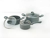 Набор посуды VULCANO 6 пр. со стеклянными крышками