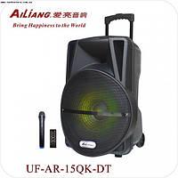 Колонка с аккумулятором UF-AR-12QK-DT + радиомикрофон
