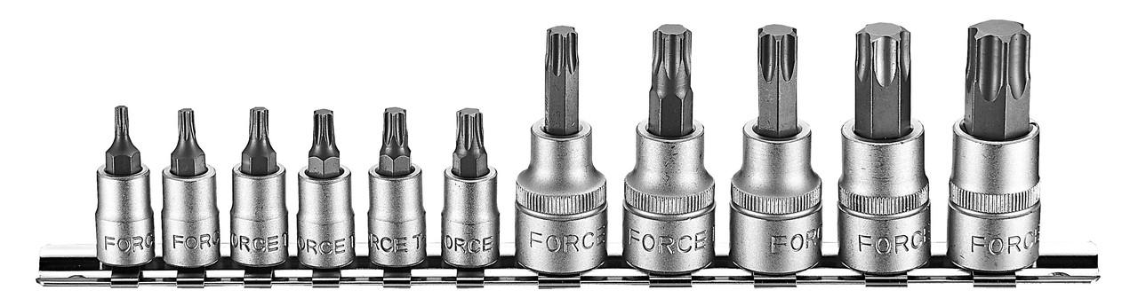 """1/4""""+3/8"""" Набор бит-насадок Torx с отверстием 11 пр. (2112I Force)"""