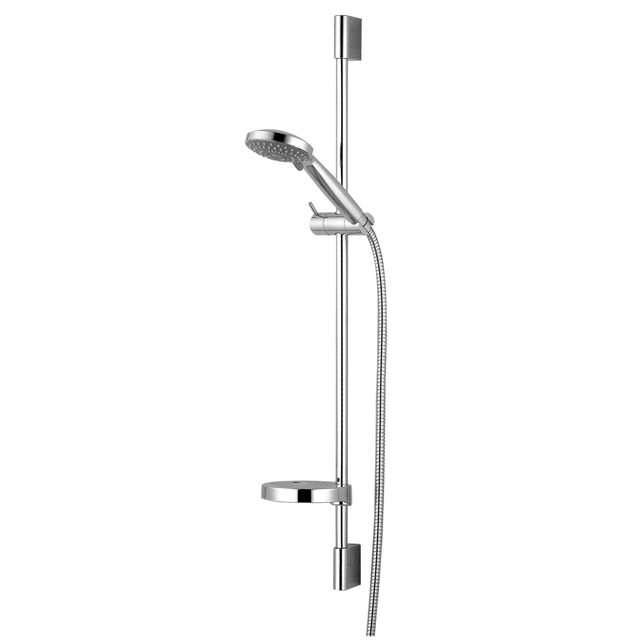 Штанга душевая DOBRANY L-82см,мыльница,ручной душ 3 режима,шланг 1,5м с вращающимся конусом (Anti-Twist)