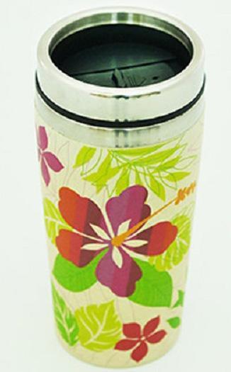 Термокружка Fissman Primula 500мл из бамбукового волокна