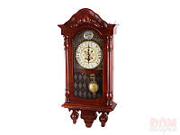 """Часы настенные 37х75 см. """"Tempo"""" деревянные, коричневые"""