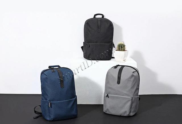Рюкзак Xiaomi College Style Leisure Backpack 20L Черный Синий Серый