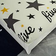 Простынь на резинке Звезды 150x200+25 см Berni, фото 2