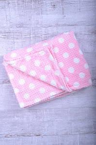 Плед бамбук полуторка розовый