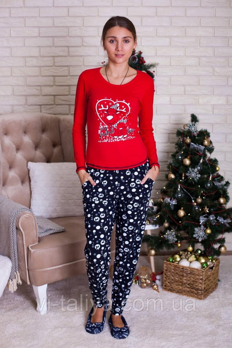 Красивая новогодняя женская пижама Nicoletta - интернет-магазин  vi-taliya.com.ua ae759e16866e6