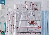 Постельное белье в детскую кроватку Luoca Patisca. Bebek Ranforce LARINA