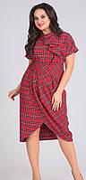 Платье Andrea Style-00131 белорусский трикотаж, красный, 50
