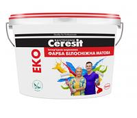Краска интерьерная акриловая Ceresit Eko белоснежная
