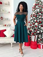Кокетливое и нежное платье с кармашками по бокам