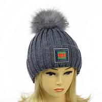 Вязаная молодежная шапка