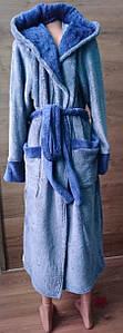 Мужской халат под пояс с капюшоном 46-56 р, мужские махровые халаты оптом от производителя