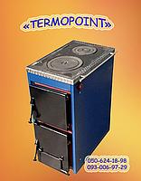 Котел стальной твердотопливный Корди АКТВ-10 кВт с плитой для приготовления пищи