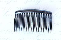 Гребешок для волос 8 см черного цвета, фото 1
