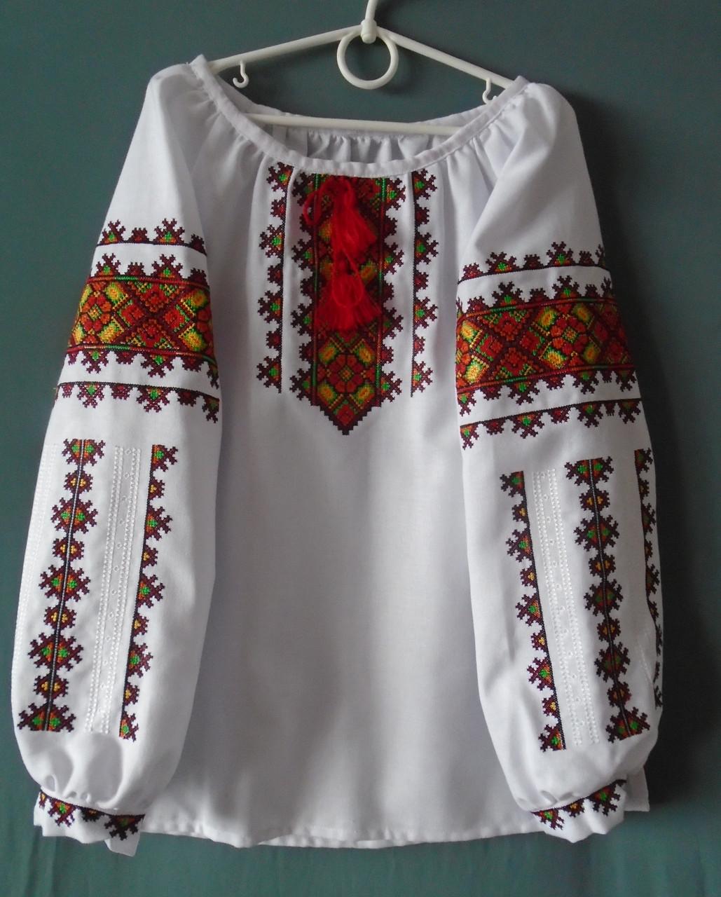 Вишиванка для Дівчинки 10-11 Років на Білому Домотканому Полотні — в ... 55907287eccf5