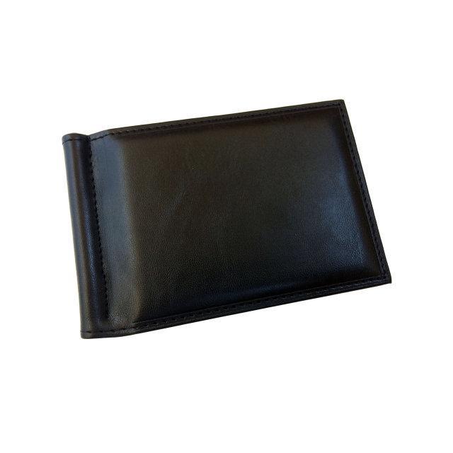 Мужской кошелек с зажимом для купюр. Черный и коричневый