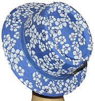 Женская Панама Комби Цветы  стильная, модная, летняя, красивая  из хлопка  , купить
