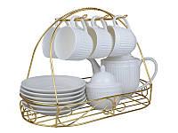 """Чайный набор """"Сияющие переливы"""" 14 предметов на подставке 250 мл, Lefard, 722-127"""