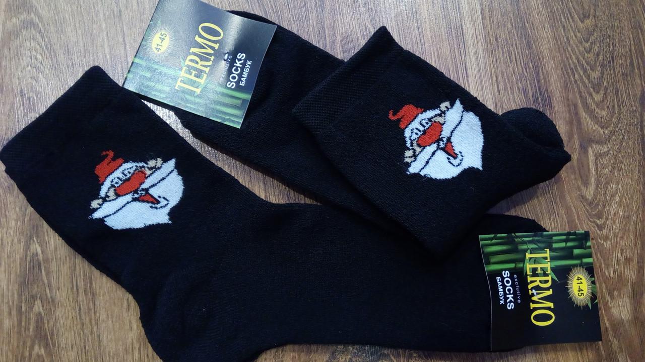 """Шкарпетки чоловічі махрові стрейчеві""""THERMO Дід Мороз""""41-45"""