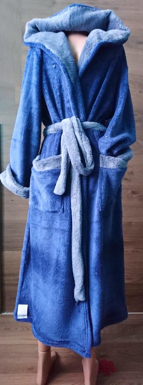 663d7c41063c Мужской длинный халат с капюшоном на запах 46-56 р, мужские махровые халаты  оптом