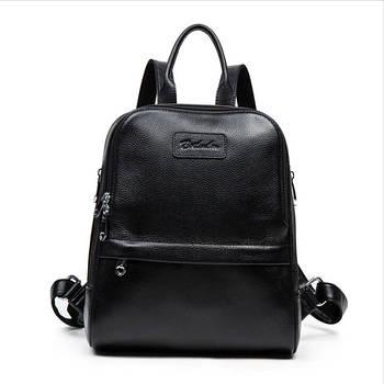 Рюкзак жіночий шкіряний BOSTANTEN (чорний)