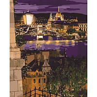 """Картина по номерам. Городской пейзаж """"Магические краски Будапешта""""  KHO3534"""