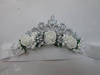 """Святкова корона для принцеси(сніжинка,фея)пов""""язка, срібляста"""