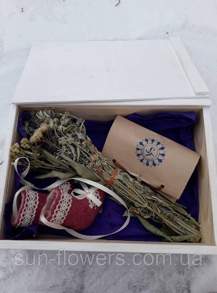 Подарочный набор (6) в деревянном ящике