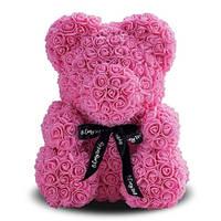 Мишка из роз My Dream 40 см. розовый