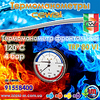 "Cewal TRP 80 VI термоманометр аксиальный фронтальный Ø80 1/2"" 120°С 4 бар"