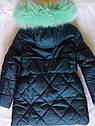 СУПЕР цена! Пальто детское зимнее Алсу на тинсулейте размеры 134- 158  Мята, фото 3