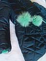 СУПЕР цена! Пальто детское зимнее Алсу на тинсулейте размеры 134- 158  Мята, фото 4
