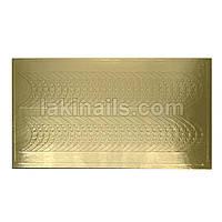 Металлизированные наклейки, золото, 102G