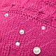 Детский комплект - шапка и шарф для девочки, р. 44-46, фото 6
