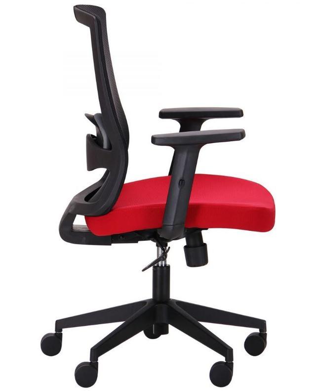Кресло Xenon LB черный/гранат (фото 3)