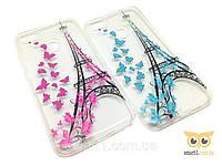 Силиконовый чехол с бабочками Paris для Huawei P9