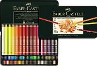 Акварельные цветные карандаши Faber Castell POLYCHROMOS 110011 в металлической коробке (120 шт.)